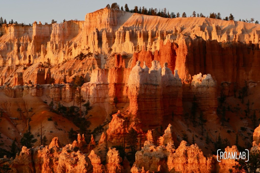 A sunrise hike of Bryce Canyon National Park from Sunrise Point to Sunset Point along the Queens Garden and Navajo Loop trails.