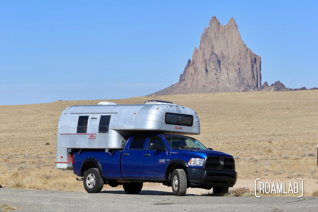 The Navajo people of Shiprock, New Mexico do not permit general access to this iconic site so we take a respectful shot from the highway.