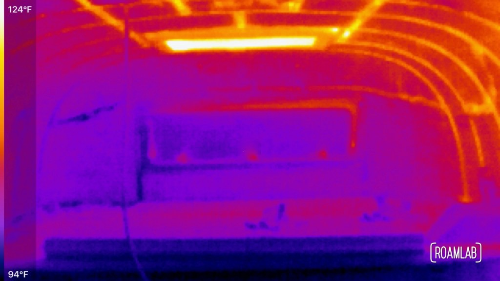 Thermal interior cabover view taken with a Seek CompactPRO