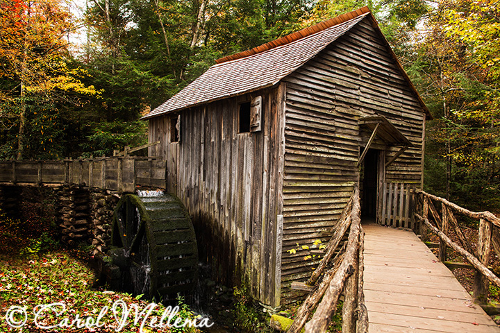 Cable Mill in Smoky Mountains National Park, Tennessee in Autumn