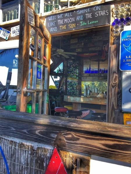 The bar at Low Key Hideaway RV Resort on Cedar Key in Florida