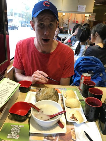 Matt is surprised by how big that sticky rice is.