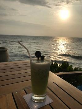 Farewell drink on Galle Face Beach.
