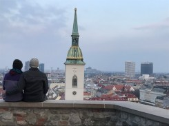 Looking out over Bratislava