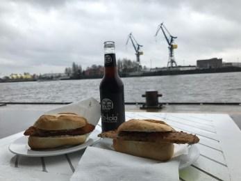Fischbrötchen on the harbor.