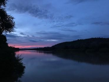 Sunset on the Kunene River