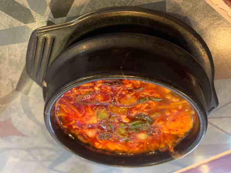 Sizzling delight: Sundubu jjigae at Choi's Don & Dak