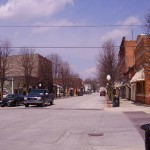 A photo of Main Street in Roanoke, Indiana.