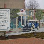 A photo of a mural in downtown Roanoke showing Historic Downtown Roanoke.