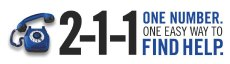211 -one number. One easy way to find help logo