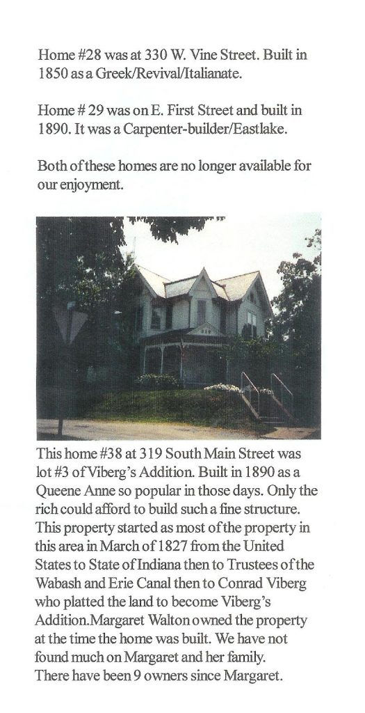 A scanned picture of Roanoke Historic Homes with information about the home (1 home included)