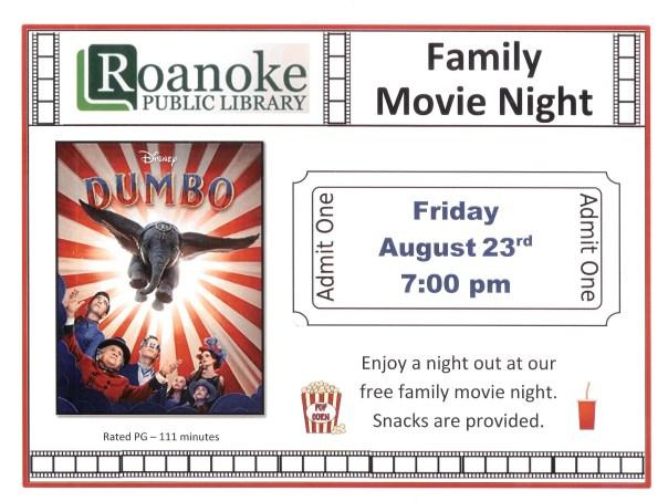 August 2019 Family Movie Night