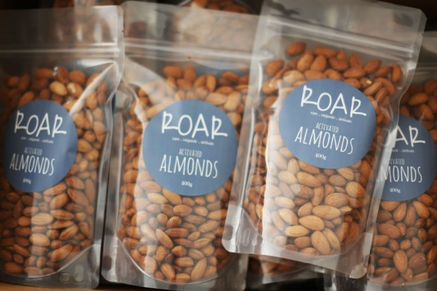 Contact us at ROAR food - activated almonds 400g