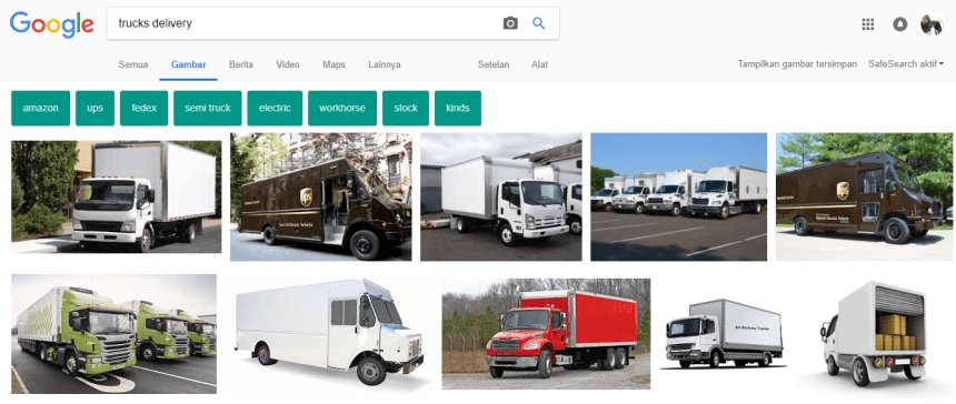 24 trucks delivery on google