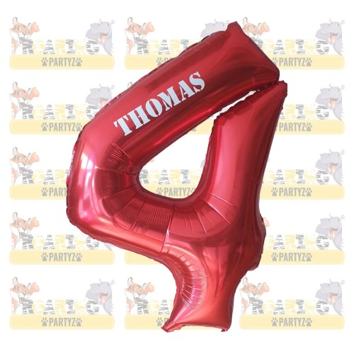 Personalised Number balloon