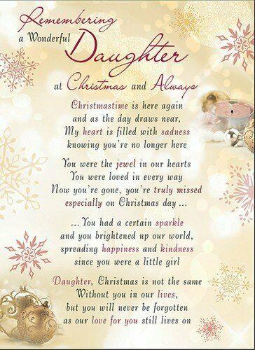 Daughter Memorial Graveside Christmas Card