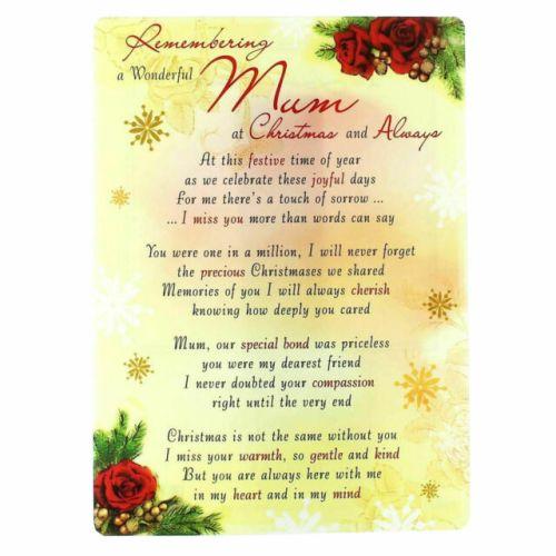 Mum Memorial Graveside Christmas Card