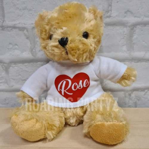 16cm Personalised Heart Teddy Bear