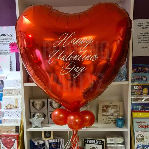 36 Inch Personalised Red Heart Balloon