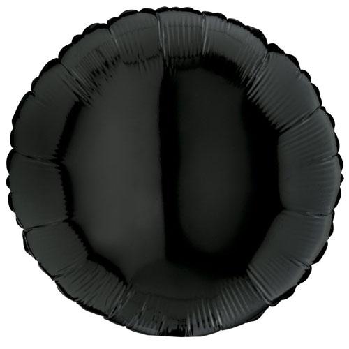 18 Inch Black Round Balloon