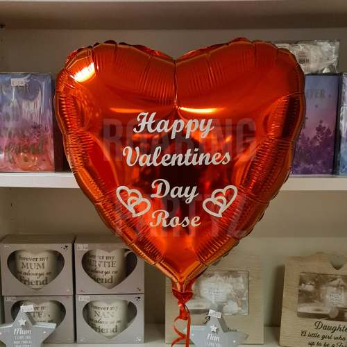 18 Inch Personalised Valentines Heart Balloon