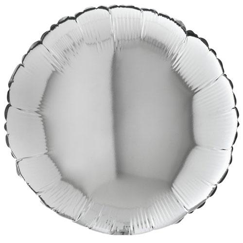 18 Inch Silver Round Balloon