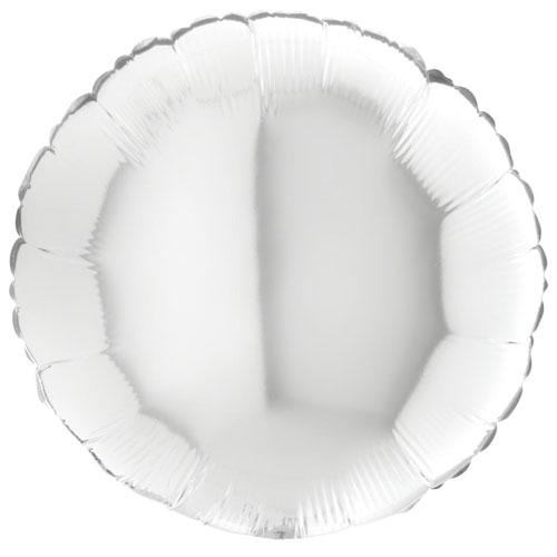 18 Inch White Round Balloon