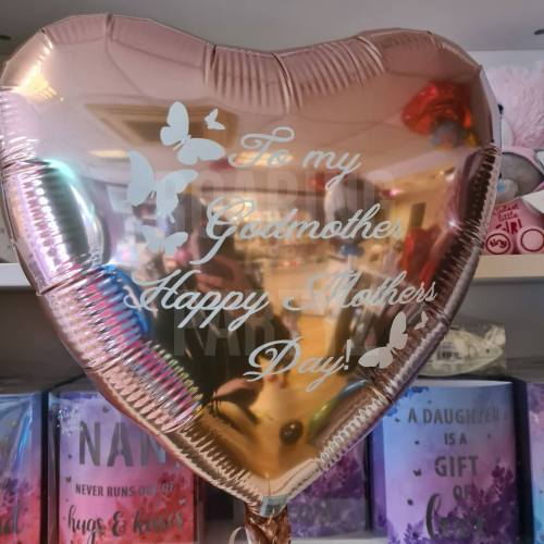 """18"""" Personalised Mother's Day Heart Balloon"""