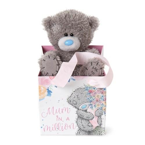 "5"" Mum In A Million Bear in Bag"