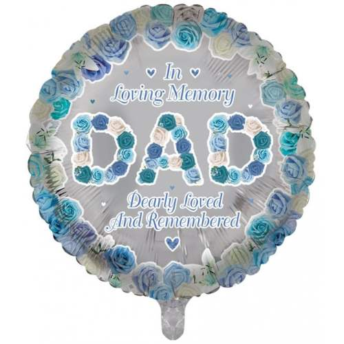 Remembrance Dad Round Balloon