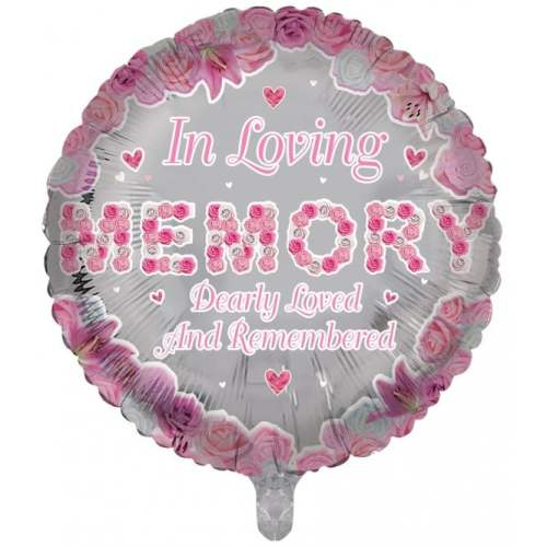 Remembrance Round Pink Balloon