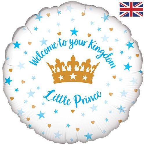 "18"" Welcome Little Prince Stars Balloon"