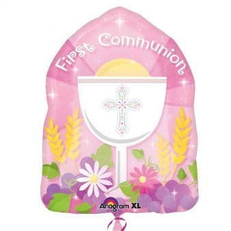 18 Inch First Communion Pink Balloon