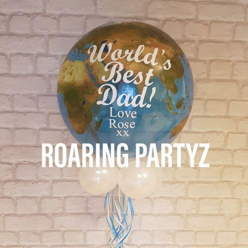 22 Inch Personalised Globe Balloon