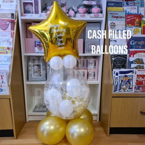 Cash filled Popping Balloon