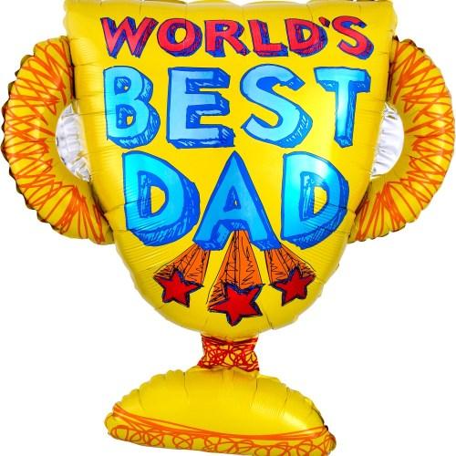 """27"""" World's Best Dad Balloon"""