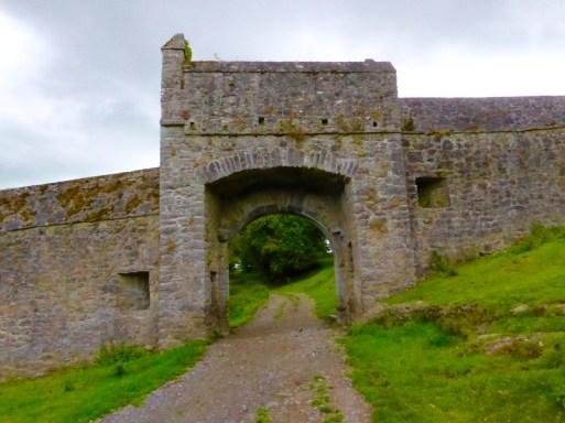 Fortified gate inside