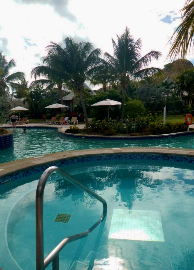 Beautiful pools and hot tubs on Sandals property