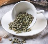 Green Coffee Beans in a coffee cup
