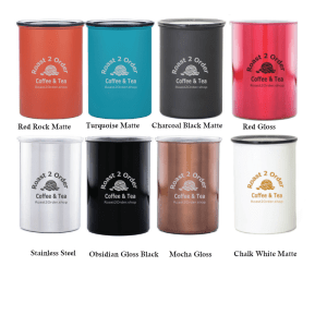 Airtight Canisters in eight colors