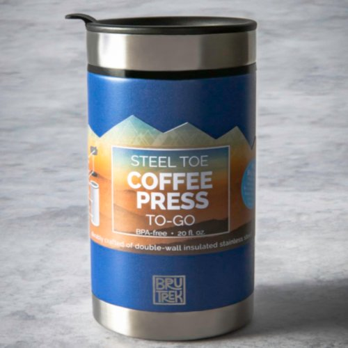 20oz Blue Travel Thermal French press