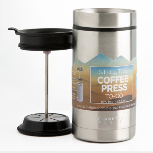 Planetary design 20oz thermal travel French press in stainless steeli