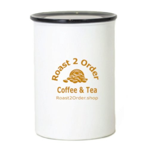 Chalk White Airtight Coffee Canister