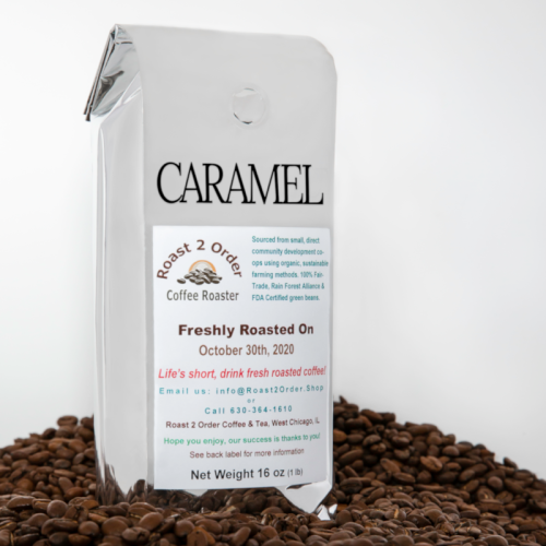 Caramel Flavored Coffee Beans