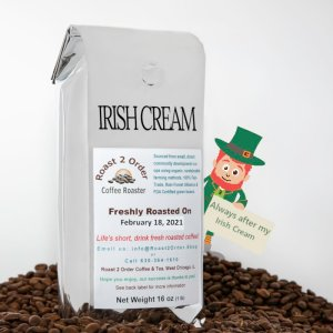 Irish Cream Flavored Whole Coffee Beans