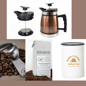 Gift Set Bundle Press Coffee Canister Scoop