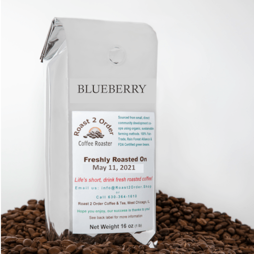 Blueberry Flavored Whole Coffee Beans