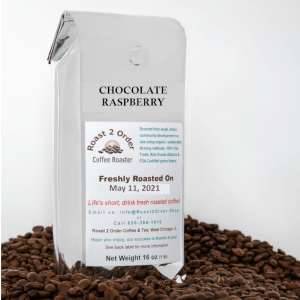 Chocolate Raspberry Flavored Whole Coffee Beans