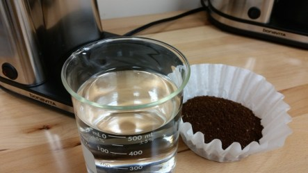 Necessary ingredients to make coffee