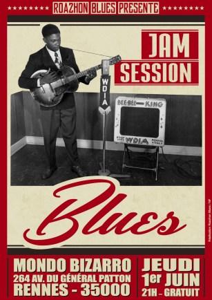 Jam session blues jeudi 1er juin